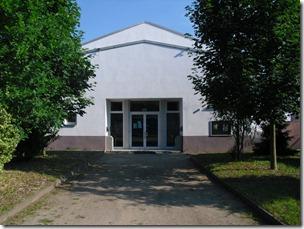 Haupteingang der Halle
